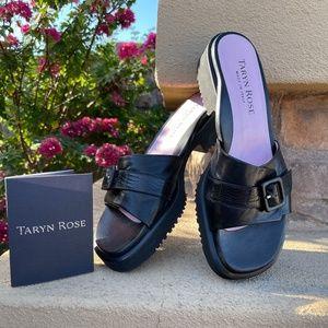 Taryn Rose Torino Black Napa Sandals